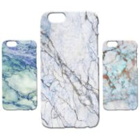 Marble Texture Phone Case for iPhone and Android - Blue Marble 7 - Samsung Galaxy S7
