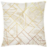 Marble Geometric Cushion - Cream