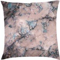 Marble Print Cushion - Purple