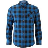Brave Soul Mens Jack Long Sleeve Check Shirt - Royal Blue - XL - Blue