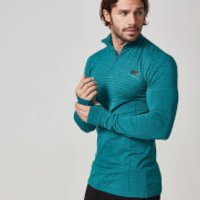 Myprotein Mens Seamless Long Sleeve 1/4 Zip Top - Blue, XXL