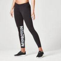 Myprotein Womens Logo Leggings - Black, L