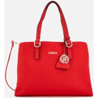 Guess Womens Tulip Satchel Bag - Red