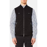Michael Kors Mens Quilted Knitted Vest - Black - S