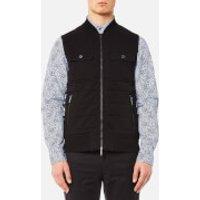 Michael Kors Mens Quilted Knitted Vest - Black - L
