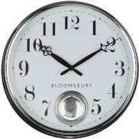 Fifty Five South Bloomsbury Metal Pendulum Wall Clock - Chrome Finish
