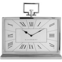 Fifty Five South Kensington Townhouse Mantle Clock - Stainless Steel