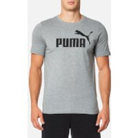 Puma Mens Essential No.1 Short Sleeve T-Shirt - Medium Grey Heather - XXL
