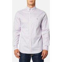 GANT Mens Oxford Check Button Down Shirt - California Pink - S