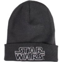 Star Wars Mens Retro Logo Beanie - Graphite Grey