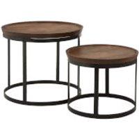 Fifty Five South Boho Nesting Table - Mango Wood/Metal (Set of 2)