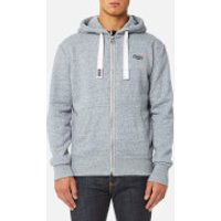 Superdry Mens Orange Label Zip Hoody - Glacier Blue Grit - M