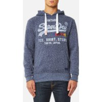 Superdry Mens Sweat Shirt Shop Surf Hoody - Chambray Blue Snowy - L
