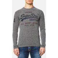 Superdry Mens Shirt Shop Duo Long Sleeve T-Shirt - Dark Grey Snowy - L