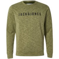 Jack & Jones Mens Core Pase Sweatshirt - Capulet Olive - XL - Green