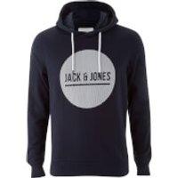 Jack & Jones Mens Core Bak Hoody - Sky Captain - XL - Blue