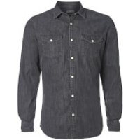 Jack & Jones Mens Originals New One Long Sleeve Denim Shirt - Black - XXL - Black