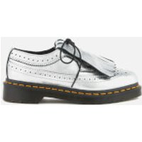 Dr. Martens Womens 3989 Metallic Leather Brogues - Silver - UK 5