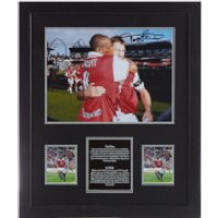 Tony Adams and Ian Wright Dual Signed and Framed 16 x 12 Photograph