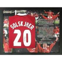 Ole Gunnar Solksjaer Signed and Framed No. 20 Shirt