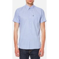 Barbour Mens Casey Short Sleeve Shirt - Blue - L