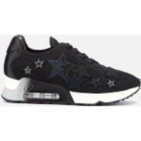 Ash Women's Lucky Star Knitted Runner Trainers - Black - UK 4 - Black