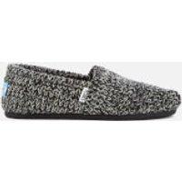 TOMS Womens Seasonal Sweater Knit/Faux Shearling Lined Slip On Pumps - Black - UK 6/US 8 - Grey