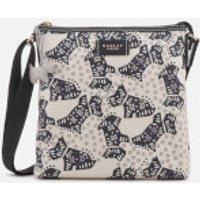 Radley Womens Folk Dog Medium Ziptop Cross Body Bag - Chalk
