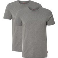 Levis Mens 200SF 2-Pack Crew Neck T-Shirts - Mid Grey Melange - M - Grey
