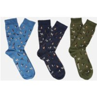Barbour Mens Dog Motif Socks Gift Box - Multi - M