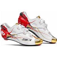 Sidi Shot Team Bahrain Carbon Cycling Shoes - White/Gold/Red - EU 48/UK 11.5 - White/Gold/Red