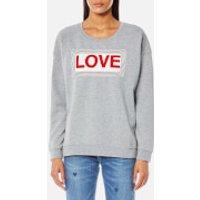 Maison Scotch Womens Love Sweatshirt - Grey Melange - M