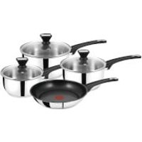 Jamie Oliver by Tefal B125S444 Stainless Steel 4 Piece Cookware Set