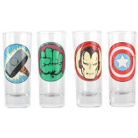 Marvel Characters Set of 4 Mini Glasses