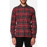 Levis Mens Jackson Worker Shirt - Tulsi Red Dahila - L - Red