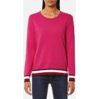 Tommy Hilfiger Womens Ivy Crew Neck Sweatshirt - Magenta - M - Pink