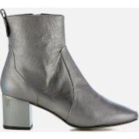 Carvela Womens Strudel Leather Heeled Ankle Boots - Gunmetal - UK 7