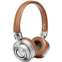 Master and Dynamic ME03 On Ear Headphones - Silver/Brown