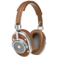 Master and Dynamic ME01 Over Ear Headphones - Silver/Brown