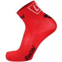 Santini La Vuelta 2017 El Infierno Angliru Coolmax Socks - Red - XS-S