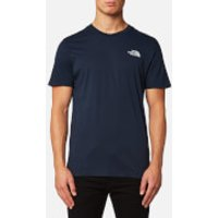 The North Face Mens Short Sleeve Simple Dome T-Shirt - Urban Navy/High Rise Grey - XL - Blue