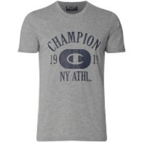 Champion Mens NY Athletic T-Shirt - Grey Marl - L - Grey