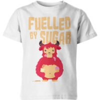 Fuelled by Sugar Kids White T-Shirt - 5-6 Years