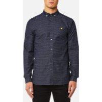 Lyle & Scott Mens Multi-Coloured Running Stitch Shirt - Navy - M