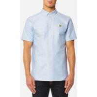 Lyle & Scott Mens Short Sleeve Oxford Shirt - Riviera - S