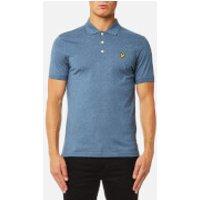 Lyle & Scott Mens 3 Colour Mouline Polo Shirt - Blue Steel - L