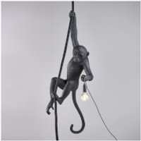 Seletti Ceiling Monkey Lamp - Black
