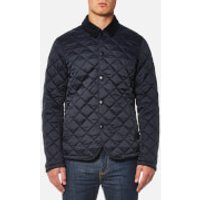 Barbour Mens Drill Quilted Jacket - Navy - XL - Navy