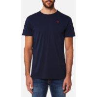Hackett Mens Short Sleeve Logo T-Shirt - Navy - XXL - Blue