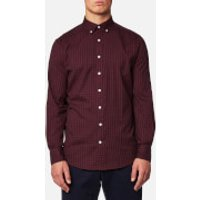 GANT Mens Windblown Oxford Check Shirt - Purple Wine - M - Purple